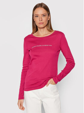 United Colors Of Benetton United Colors Of Benetton Блуза 3GA2E16G0 Розов Regular Fit