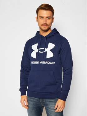 Under Armour Under Armour Bluză Ua Rival Fleece Big Logo 1357093 Bleumarin Loose Fit
