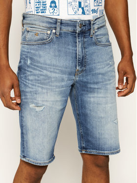 Calvin Klein Jeans Calvin Klein Jeans Džinsiniai šortai J30J315356 Mėlyna Regular Fit