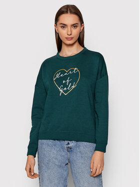 Vero Moda Vero Moda Bluza Heart 10262914 Zielony Regular Fit