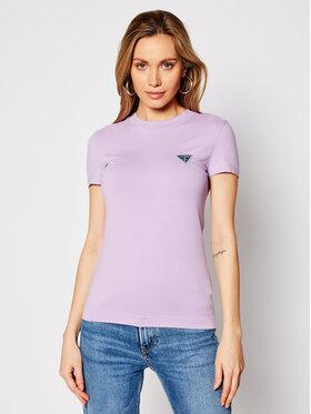 Guess Guess Тишърт W1RI04 J1311 Виолетов Slim Fit