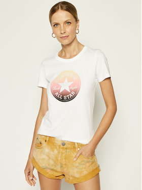 Converse Converse Marškinėliai All Star Tee 10018921 Balta Relaxed Fit