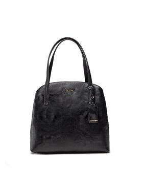 Calvin Klein Calvin Klein Handtasche Ck Must Shoulder Bag Md Lizard K60K608624 Schwarz