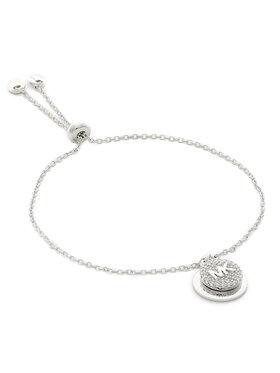 Michael Kors Michael Kors Bransoletka Pave Coin Slider MKC1514AN040 Srebrny