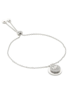 Michael Kors Michael Kors Brățară Pave Coin Slider MKC1514AN040 Argintiu