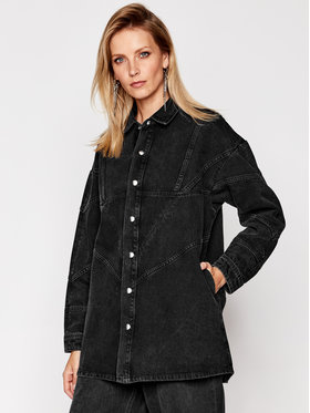IRO IRO Jeansová bunda Bandini AN110 Černá Relaxed Fit