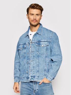 Tommy Jeans Tommy Jeans Farmer kabát Trucker DM0DM10843 Kék Oversize
