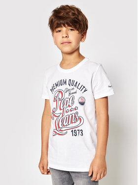 Pepe Jeans Pepe Jeans Tricou Jordan PB503148 Alb Regular Fit