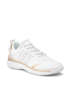 Tommy Hilfiger Tommy Hilfiger Sneakersy Knited Light Sneaker FW0FW05791 Biały