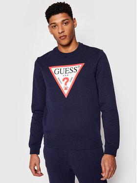 Guess Guess Sweatshirt M1RQ37 K6ZS1 Bleu marine Slim Fit