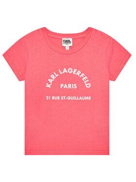 KARL LAGERFELD KARL LAGERFELD T-shirt Z15M59 D Ružičasta Regular Fit