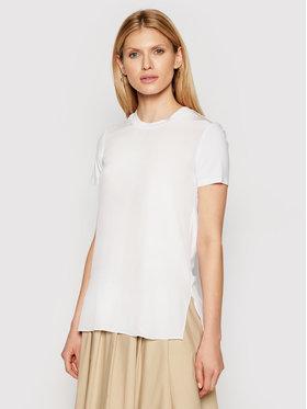 Max Mara Leisure Max Mara Leisure T-Shirt Posato 39710216 Biały Regular Fit
