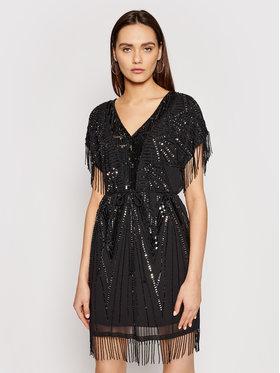 TwinSet TwinSet Koktejlové šaty 211TT2621 Čierna Regular Fit