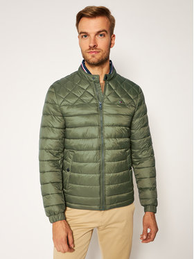 TOMMY HILFIGER TOMMY HILFIGER Pūkinė striukė C Light Weight Padded Bomber MW0MW12001 Žalia Regular Fit