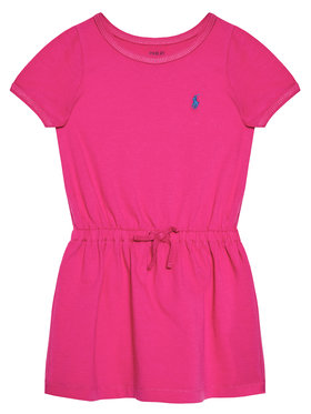 Polo Ralph Lauren Polo Ralph Lauren Každodenní šaty Tie Frnt 313833945002 Růžová Regular Fit