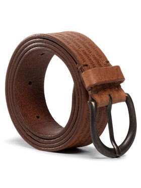 Wrangler Wrangler Vyriškas Diržas Allover Kabel Belt W0E1U1X81 Ruda