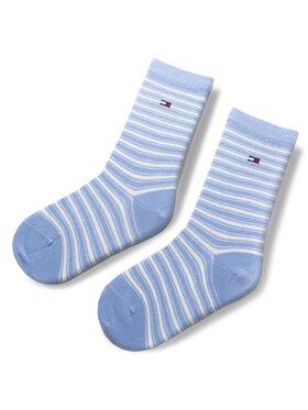 TOMMY HILFIGER TOMMY HILFIGER Vaikiškų ilgų kojinių komplektas (2 poros) 384009001 Mėlyna