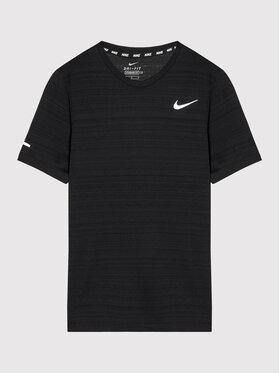 Nike Nike Techniniai marškinėliai Miler DD3055 Juoda Regular Fit
