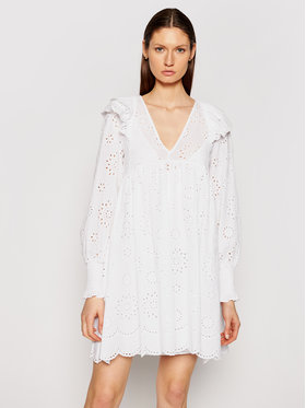 TWINSET TWINSET Sommerkleid 211TT2591 Weiß Regular Fit