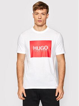 Hugo Hugo T-shirt Dolive214 50456378 Blanc Regular Fit
