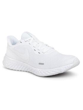 NIKE NIKE Παπούτσια Revolution 5 BQ3204 103 Λευκό