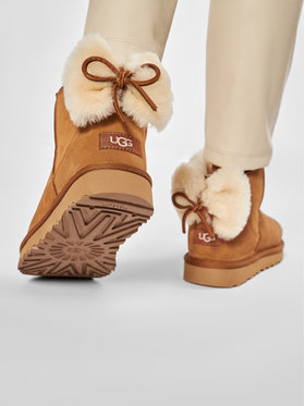 Ugg Ugg Обувки W Classic Mini Bow 1116099 Кафяв