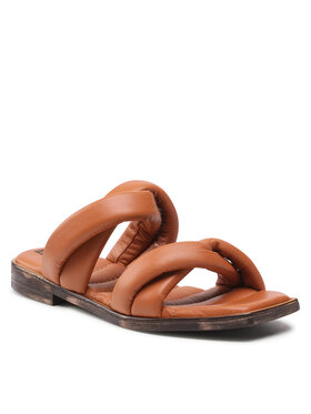 Carinii Carinii Mules / sandales de bain B6135 Marron