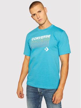 Converse Converse T-Shirt Repeat Wordmark Ss Tee 10020606-A02 Modrá Regular Fit