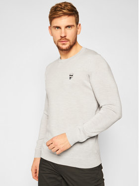 KARL LAGERFELD KARL LAGERFELD Sveter Knit 655013 502399 Sivá Regular Fit