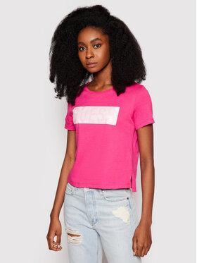 Guess Guess Marškinėliai Adria W1RI05 JA900 Rožinė Regular Fit