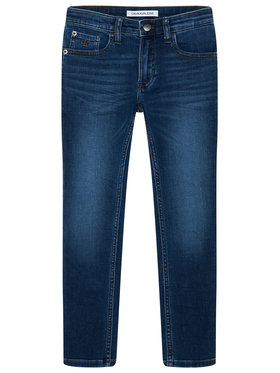 Calvin Klein Jeans Calvin Klein Jeans Jeansy IB0IB00505 Tmavomodrá Slim Fit