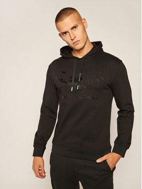 Armani Exchange Armani Exchange Sweatshirt 6HZMFY ZJ5CZ 1200 Schwarz Regular Fit