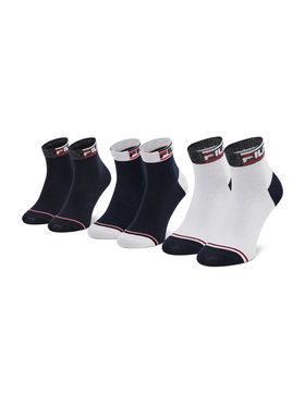 Fila Fila Комплект 3 чифта къси чорапи дамски Calza F6101 Тъмносин