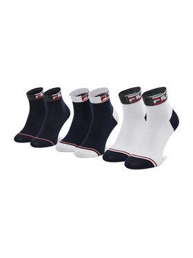 Fila Fila Sada 3 párů dámských vysokých ponožek Calza F6101 Tmavomodrá