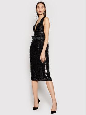 Elisabetta Franchi Elisabetta Franchi Koktejlové šaty AB-012-11E2-V520 Černá Slim Fit