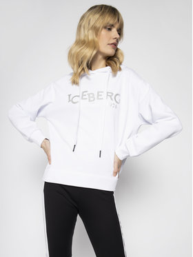Iceberg Iceberg Bluza 20EI2P0E0416302 Biały Regular Fit