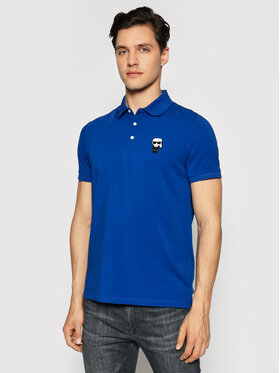 KARL LAGERFELD KARL LAGERFELD Тениска с яка и копчета 745021 511221 Син Regular Fit