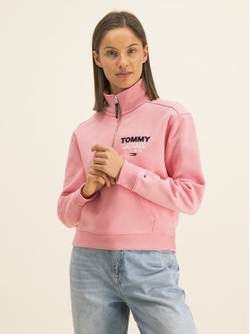 Tommy Jeans Tommy Jeans Sweatshirt Logo Quarter DW0DW07662 Rosa Relaxed Fit