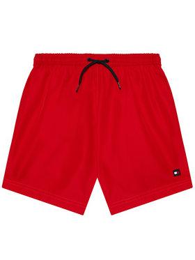 Tommy Hilfiger Tommy Hilfiger Pantaloncini da bagno Medium Drawstring UB0UB00352 Rosso Regular Fit