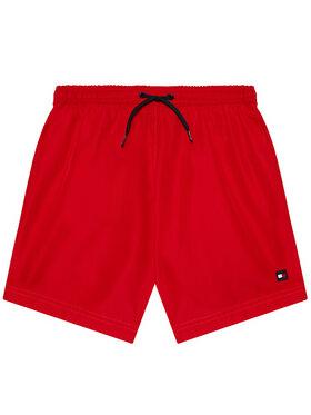 Tommy Hilfiger Tommy Hilfiger Plavecké šortky Medium Drawstring UB0UB00352 Červená Regular Fit