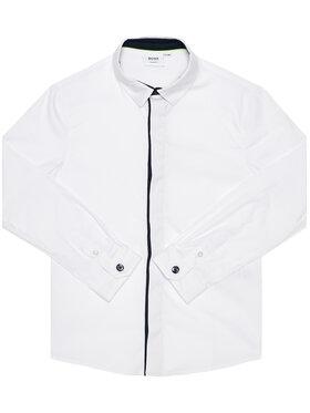 Boss Boss Πουκάμισο J25G53 D Λευκό Slim Fit