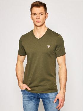 Guess Guess T-Shirt M1RI37 I3Z11 Zielony Slim Fit