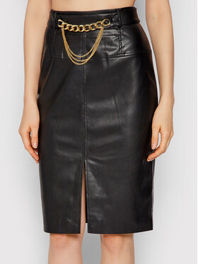 Liu Jo Liu Jo Suknja od imitacije kože CF1009 E0641 Crna Slim Fit