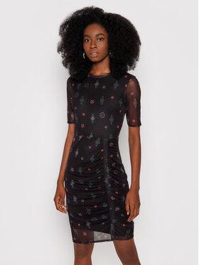 Desigual Desigual Ежедневна рокля Kira 21WWVK37 Черен Slim Fit