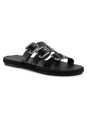 Manebi Manebi Εσπαντρίγιες Leather Sandals S 2.1 Y0 Μαύρο