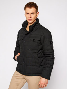 Tommy Hilfiger Tommy Hilfiger Зимно яке Removable Fur Hooded MW0MW16965 Черен Regular Fit