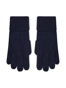 Tommy Hilfiger Tommy Hilfiger Dámské rukavice Th Lux Cashmere Gloves AW0AW10735 Tmavomodrá
