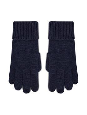 Tommy Hilfiger Tommy Hilfiger Moteriškos Pirštinės Th Lux Cashmere Gloves AW0AW10735 Tamsiai mėlyna