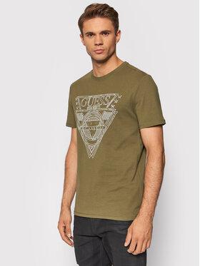 Guess Guess T-Shirt M1YI76 J1311 Zielony Regular Fit