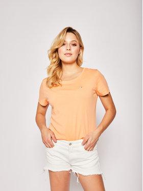 Tommy Jeans Tommy Jeans T-Shirt Tjw Soft Jersey Tee DW0DW06901 Oranžová Regular Fit